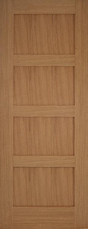 Contemporary Oak 4 Panel Door
