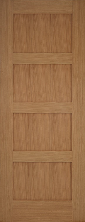 Oak Contemporary 4 Panel