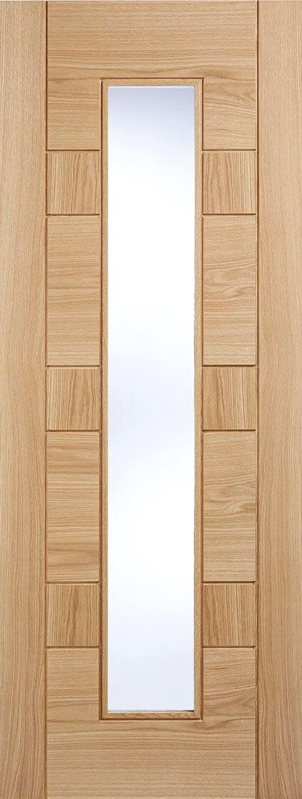 Edmonton Oak Clear Glazed & Edmonton Oak Clear Glazed - Trading Doors
