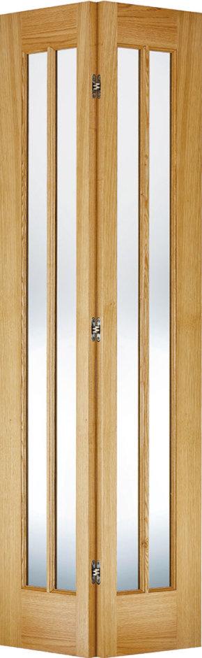 Oak Lincoln Glazed Bi-Fold Door