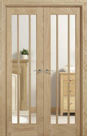 Oak Lincoln W4 Room Divider