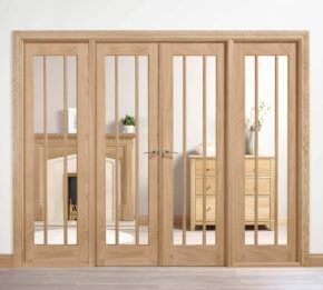 Oak Lincoln W8 Room Divider