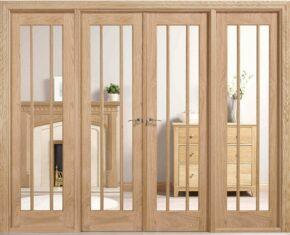 Oak Lincoln W8 Room Divider