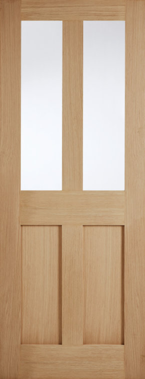 London Oak Shaker Style glazed door
