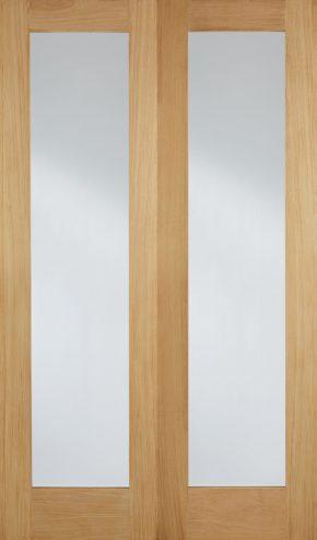 Pattern 20 Oak Clear Glazed Pair