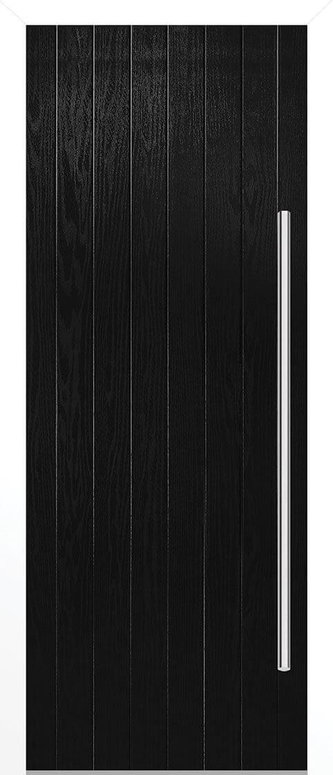 Ogston Black Composite Doorset