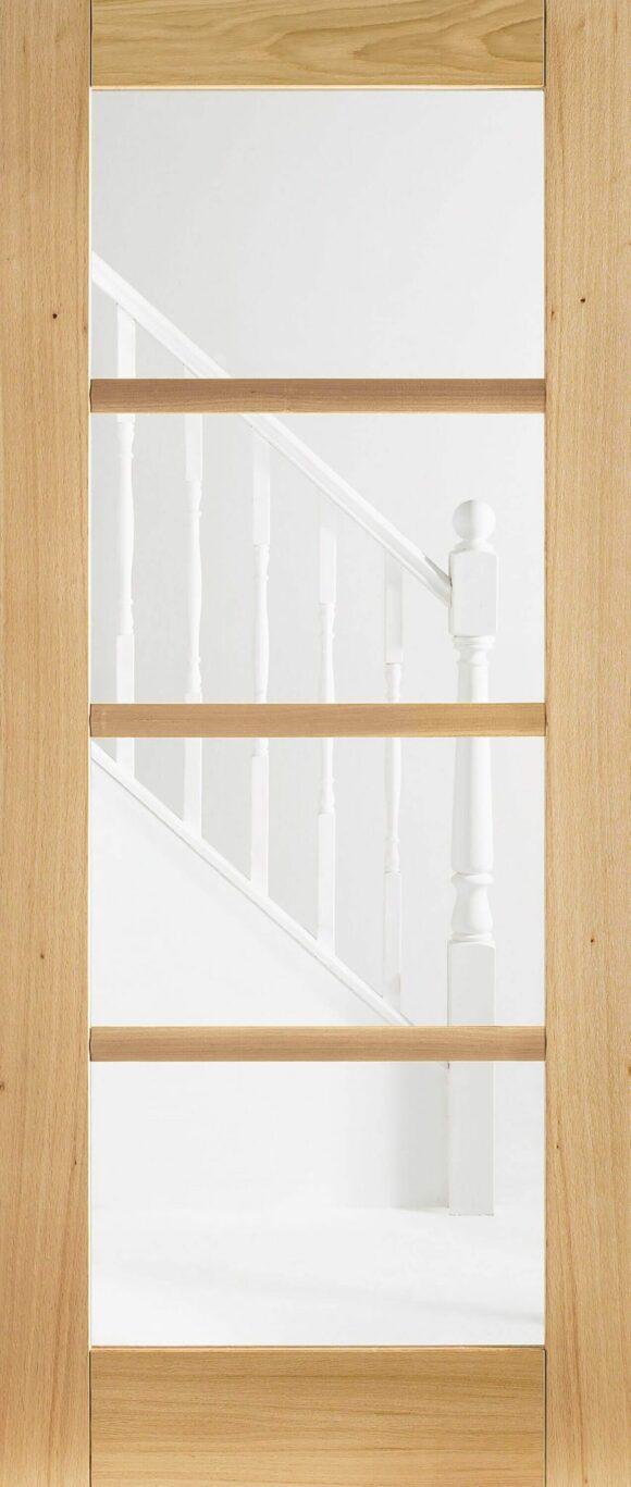 The Oak Oslo 4 Light Glazed Pre Finished Internal Door Is Part Of A Range