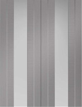Forli Light Grey Pair Clear Glass