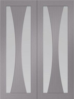 Verona Light Grey Pair Clear Glass