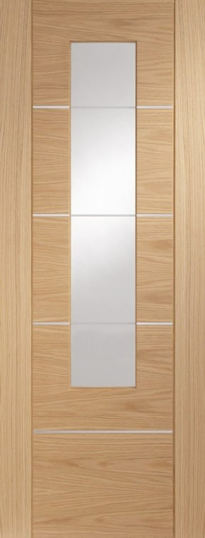 Portici Oak with Clear Etched Glass