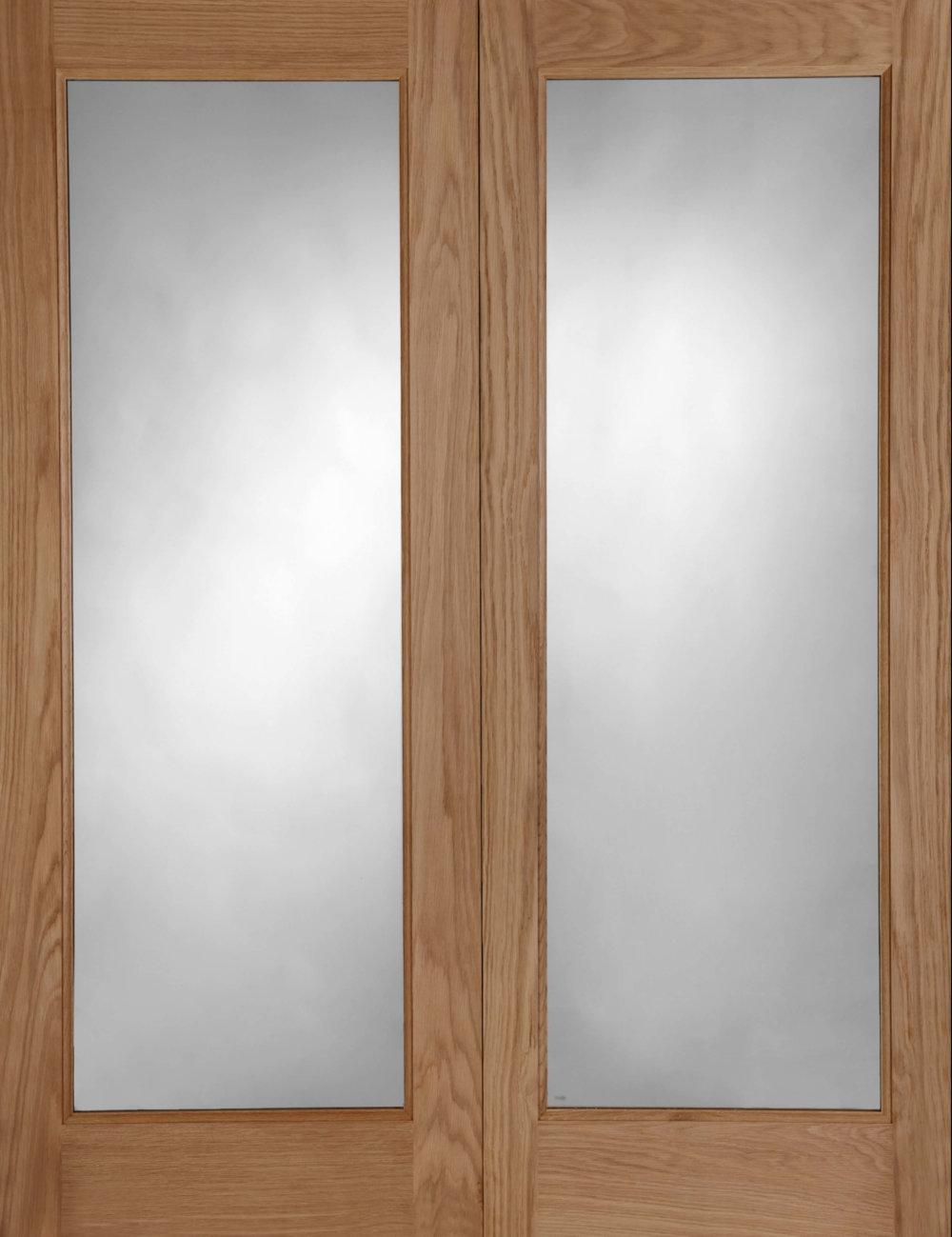 Pattern 20 oak double glazed pair external doors trading for External double doors