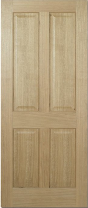 Regency Oak 4 Panel Door