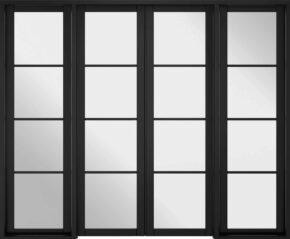 Soho Black Primed W8 Room Divider