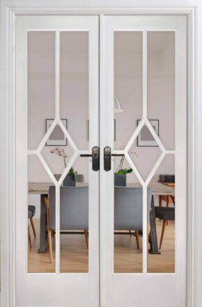 White Primed Reims W4 Room Divider