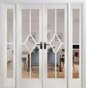 White Primed Reims W6 Room Divider