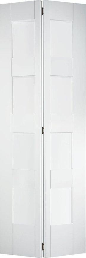 Shaker White Primed 4 Light Glazed Bi-Fold Door