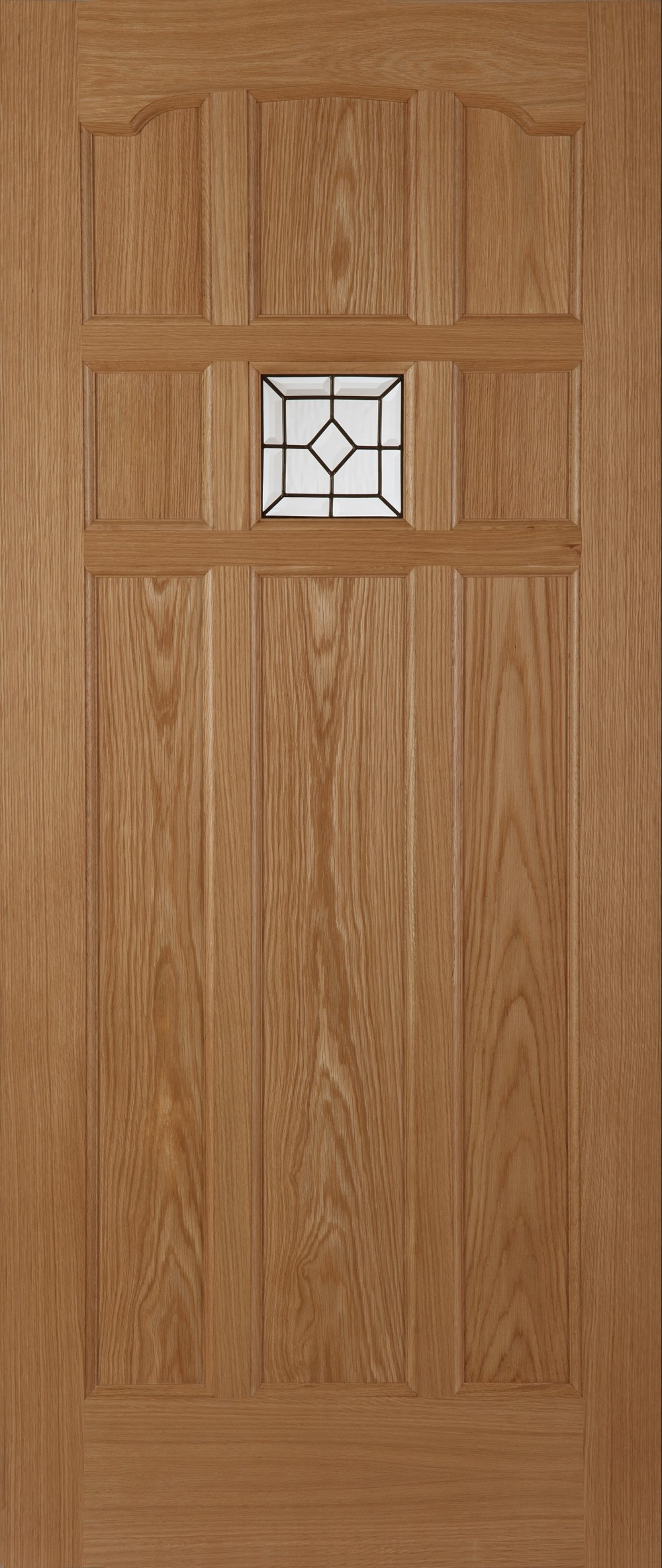 Sandown lead oak triple glazed external door trading doors for Triple glazed doors