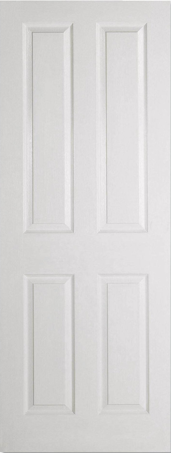 Textured 4 Panel White Moulded
