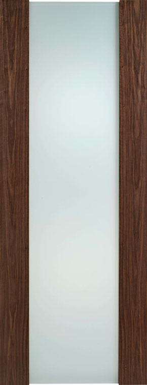 oronto Walnut Full Frosted Glass