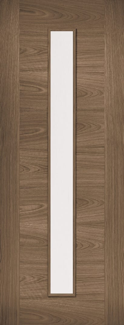 Sofia Walnut 1 LIGHT GLAZED INTERNAL DOOR