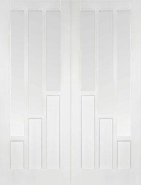 White Primed Coventry Glazed Pair