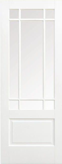Downham White Primed Clear Bevelled Glass
