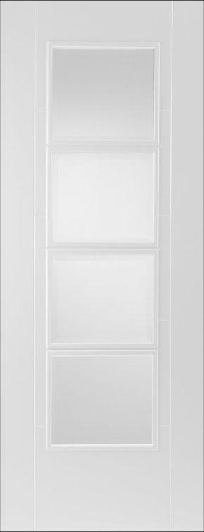 Iseo White Primed 4 Light Glazed