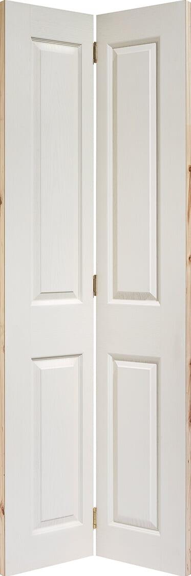 White Primed Textured 4 Panel Bi-fold