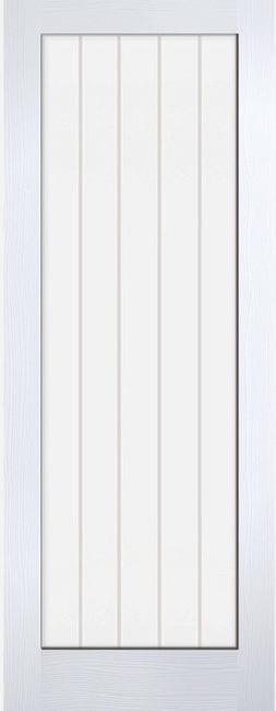 Textured Vertical 1 Light Glazed White Moulded