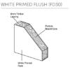 White Primed FD30 Flush