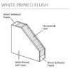 White Primed Flush