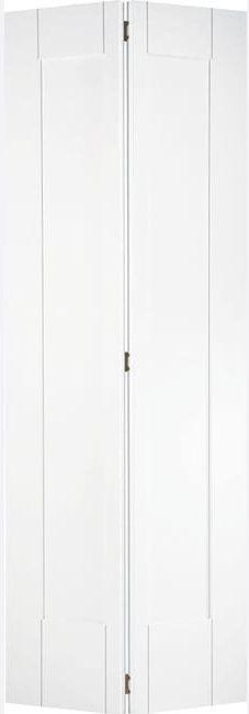 White Shaker Bi-fold Primed Door