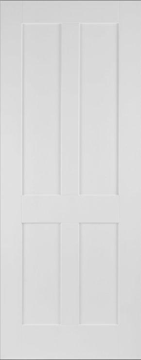 White Primed Victorian Shaker 4 Panel
