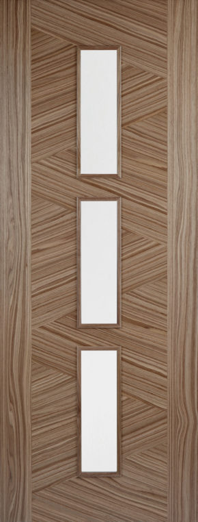 Zeus Walnut Glazed Door