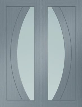 Salerno Light Grey Pair Clear Glass